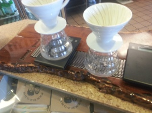 Avoca Coffee Shop pour over setup